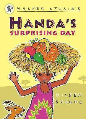 Handa's Surprising Day by Eileen Browne (Paperback) New Book