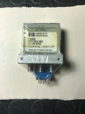 HP 8765D COAXIAL SWITCH DC-40 GHZ Nuovo