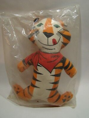 Vintage 1973 Kellogg Co. TONY The Tiger Stuffed Toy Factory Sealed Bag Unopened