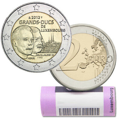 """Roll  Rouleau 2012 – Luxembourg – 2 € - 25 pieces  coins) """"Grands-Ducs """""""