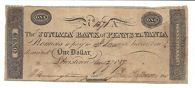 PA, Lewistown. The Juniata Bank of Pennsylvania $1.00.. SENC ...Fine