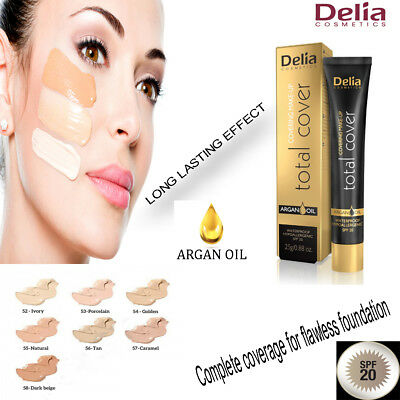 Delia Cosmetics Total Full Cover Covering For flawless Foundation Make Up Cover