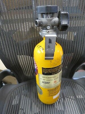Scott 3000 psi Carbon SCBA Air Pak Cylinder Breathing Tank Mfr 04 Luxfer L17E-1