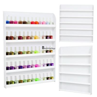 Acrylic Ivory 5 Tiers Cosmetic Nail Polish Varnish Display Stand Organizer 02