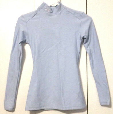 Womens Under Armour Small Blue Long Sleeve Cold Gear Compression Shirt Mock Neck