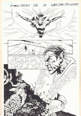 X-Men: Legacy #236 p.10 - Psylocke and Namor with Fishes - 2010 art by Greg Land