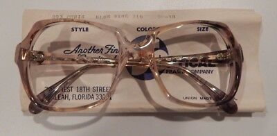 Vintage US Optical Chris Blue Wine 50/18 Ladies Plastic Eyeglass Frame NOS  #243