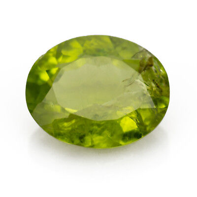 4.28ct Large Peridot. Oval cut in a stunning green colour.