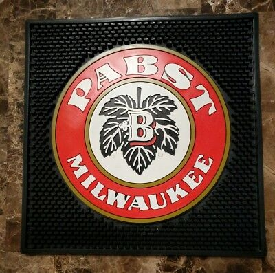 (L@@K) Pabst Blue Ribbon beer bar mat brand new Game Room man cave RARE