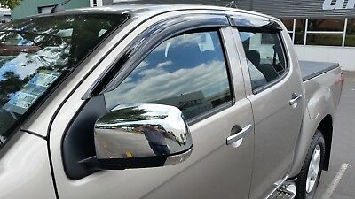 Slim Weather Shields for Holden Colorado 2012+