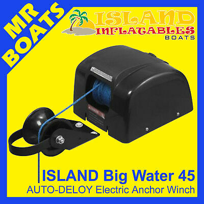 12V ANCHOR DRUM WINCH ✱ ISLAND BIG WATER 45 AUTODEPLOY ✱ Up to 22ft 7m FREE POST
