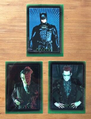 1995 Topps Batman Forever Stickers - Lot of 3 x Chromium Chase Stickers