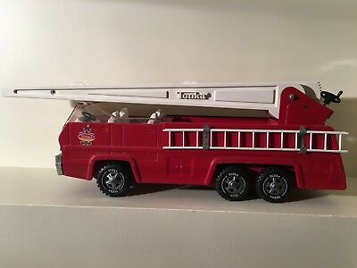 Tonka 1960's 1970's Vintage Aerial Ladder Fire Truck Pressed Steel Used