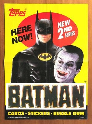 1989 Topps Batman (The Movie) Series 2 - Promotional Poster