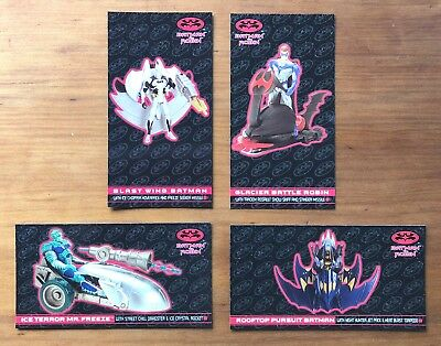 1997 Fleer/SkyBox Batman & Robin - Set of 4 Kenner Collectibles Chase Cards