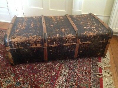 Vintage Shipping Steamer Suitcase Trunk