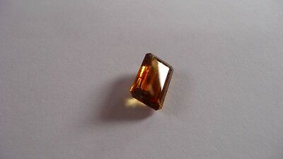 4.5 ct emerald cut, Gold Sphene Titanite gem - Madagascar