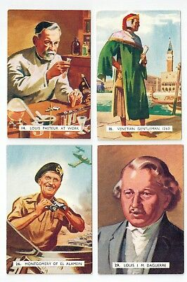 Sanitarium Weet-Bix - Wonder Book of General Knowledge (1950) 4 collector cards