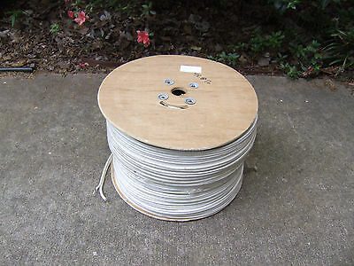 1000' COPPER RG-59/U Siamese 18/2 White Cable Camera Video Coax RG59 Coaxial