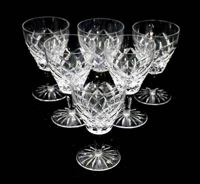 Vintage set of 6 large crystal wine glasses 220ml in lovely condition