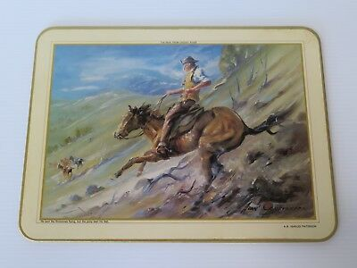 "6 Vintage A.b.(Banjo) Paterson ""The Man From Snowy River""  Placemats"
