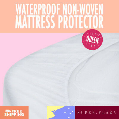 Premium Waterproof Mattress Protector Non-Woven Fitted - Queen
