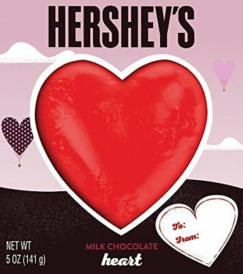 HERSHEY'S Heart Shaped Chocolate Solid Milk Chocolate Candy n Valentine's Day...
