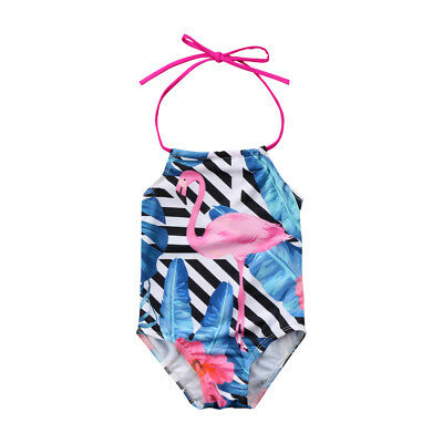 Kid Baby Girls Flamingo Tankini Swimwear Swimsuit Bikini Set Swimming Costume