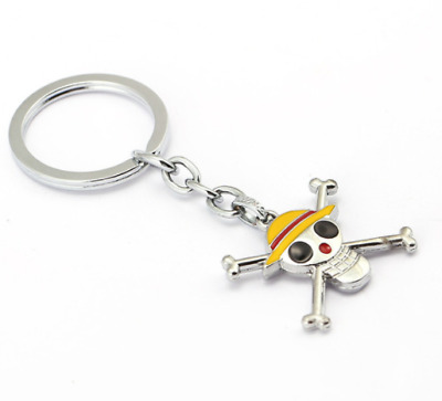 (10design) One Piece Key Chain Ring Cool Gift Friends Pirates Luffy Aces Bag Tag