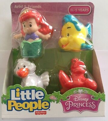NEW Fisher-Price Little People Disney Princess Ariel & Friends 4-Pack