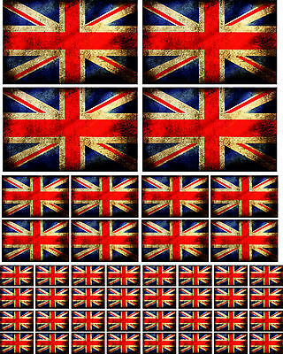 Union Jack / Great Britain Flag Vinyl Stickers - Multipack Various Sizes