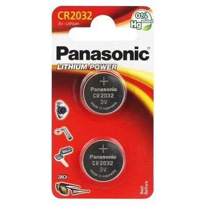 PANASONIC Lot de 2 piles  CR2032 Lithium 3V  DLC 2027