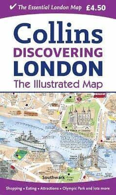 Discovering London Illustrated Map by Collins Maps Book The Cheap Fast Free Post