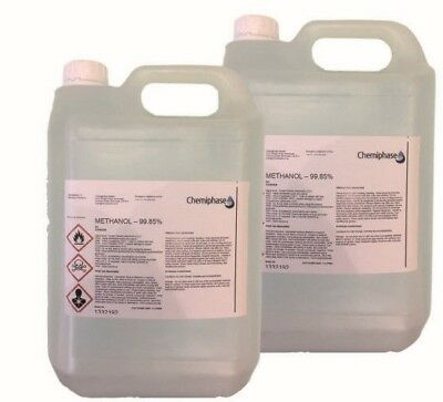 2 x 5 Litres of Methanol 99.85% 10 L -  Pure Grade For Biodiesel - Free Delivery