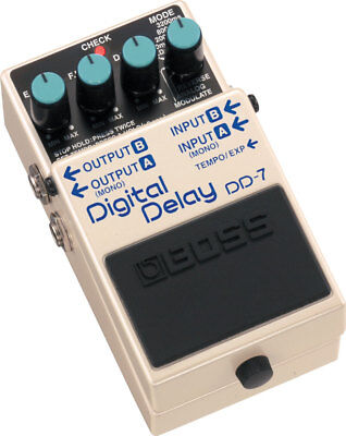 Boss DD7 Delay Guitar Effects Pedal - DD-7 + FREE Patch Cable