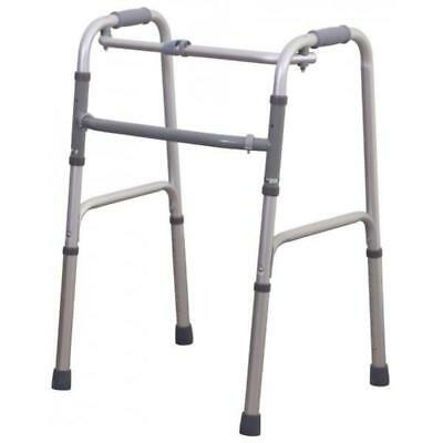 Walking Frame - Lightweight, Folding, Height Adjustable, Foam Grip Handles for