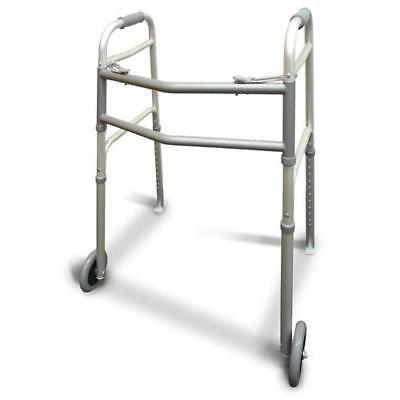 Walking Frame with Wheels and Skis - No Lifting, the walker is able to be easily