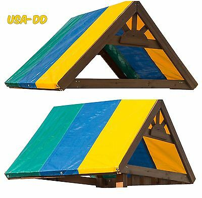 Swingset Replacement Tarp Fort Canvas Multi Color Canopy Roof Shade