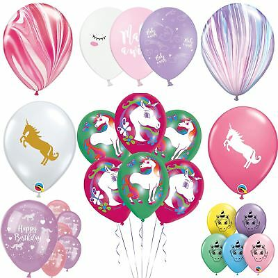 Unicorn Latex Balloons Birthday Party Decorations Girls Magical Pastel Clear