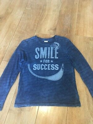 DIESEL boys long sleeved top / t shirt Blue 144 cm / Age 10 - Smile For Success