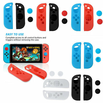 Silicone Grip Case Cover Rubber For Nintendo Switch Joy-Con Controller GamePad