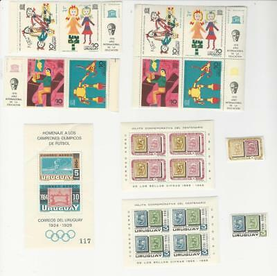 Uruguay, Postage Stamp, #786-9, 789a, C282, C309-10a Mint NH, 1965-70 (p)