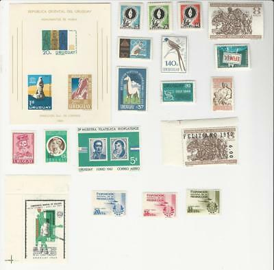 Uruguay, Postage Stamp, # All Different Airmail Sets (p)