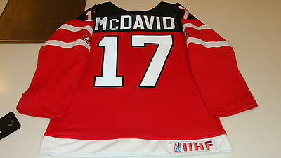 Canada 2015 World Juniors Hockey Jersey IIHF Connor McDavid Red Age 7 Child Kids