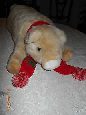 Christmas Pig with Scarf From Globe Store  a Division of John Wanamaker 1980's