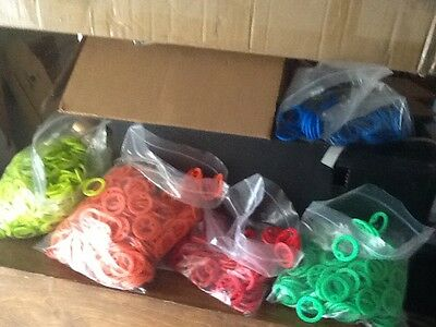 4 Dog Tag Silencers, Green, Red, Orange, &Lime Green Silencer & black colors