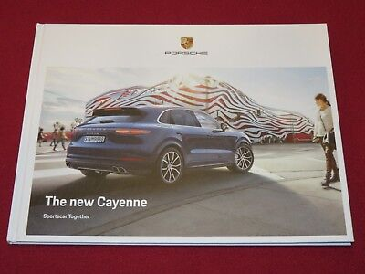 2018 Porsche New Cayenne Us Hard Cover Original Brochure Gt2 Rs Turbo 718 Gts