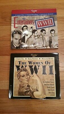 Lot of 2 Preowned WW2 QUALITY Audio CD's of Original Recordings THE ENTERAINERS