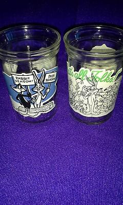 Vintage Welch's Jelly Jars; WarnerBros; 1994 #11 & 12; Anchor Hocking