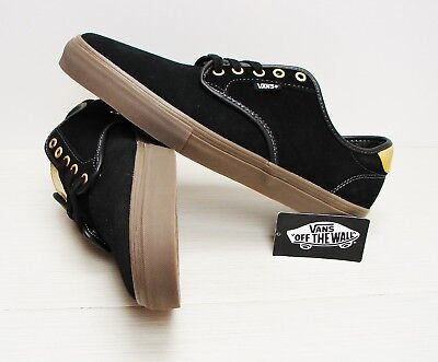 d361ea6edfd2 VANS CHIMA FERGUSON Pro Black Tan White UltraCush Men s Skate SIZE ...